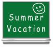 summer vacation school chalkboard - kids