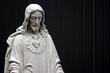 Leinwanddruck Bild - jesus black and white