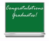 congratulations graduates - school chalkboard poster