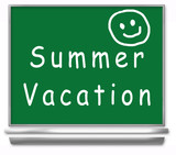 summer vacation school chalkboard - kids poster