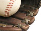 baseball in glove poster