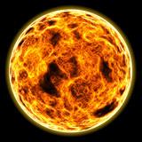 flaming sun poster