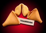 teamwork fortune cookie metaphor poster