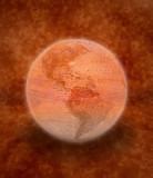 rustic globe poster