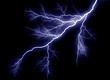 canvas print picture - lightning strike