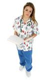 pediatric nurse in scrubs poster