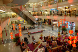 malaysia, kuala lumpur: shopping centre during chinese new year poster