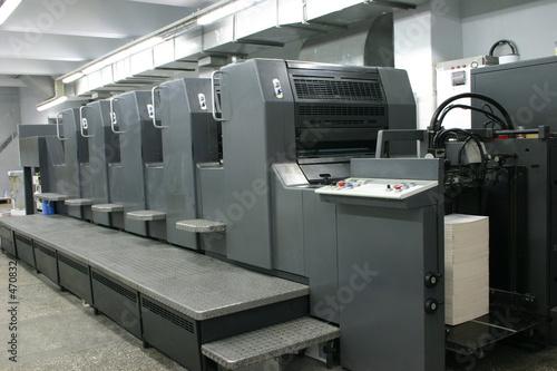 Leinwanddruck Bild offset machine