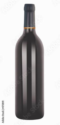 illustrated red wine bottle