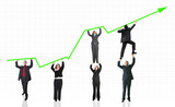 business growth and success graph poster