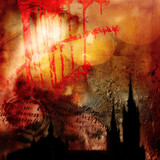 abstract gothic background poster