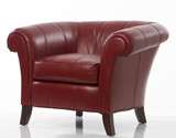 red leather chair poster