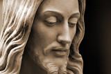sepia-toned jesus poster