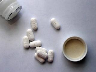 bottle w/ pills