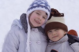children on snow poster