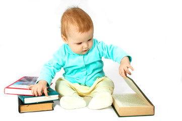 baby read the book
