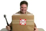 evil delivery man poster