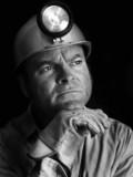 coal miner - portrait bw poster