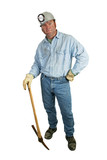 coal miner - leaning on pickax poster