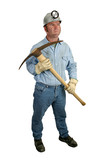 coal miner with pickax 1 poster