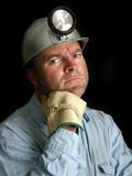 coal miner portrait 2 poster