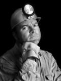 coal miner portrait 2 bw poster