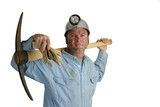 coal miner with pickax 2 poster