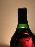 red wine, green bottle poster