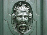 carved door knocker paris poster