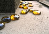 colorful glass pebbles poster