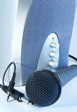 microphone and speaker poster