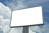 blank billboard over blue cloudy sky, just add your text poster