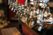 canvas print picture - beer taps