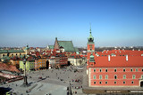 Fototapety old town and royal palace in warsaw