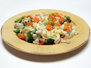 fettucine with vegetables