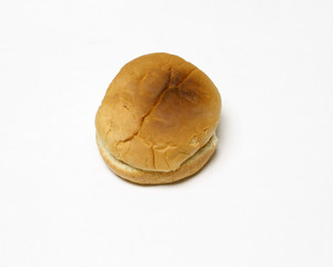 isolated toasted bun