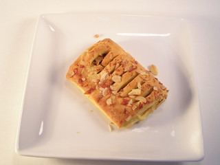 bear claw on white plate