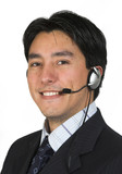 business man with headset poster