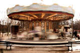france, paris: carousel poster