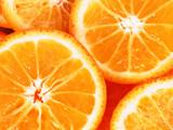 orange slices close up poster