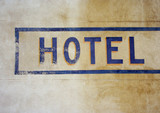 hotel sign poster