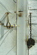 barn door and padlock