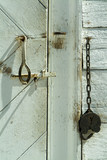 barn door and padlock poster