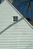 colonial home side and window poster