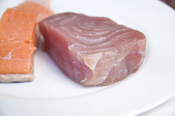 tuna and salmon