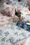 floral bedding - home interiors poster