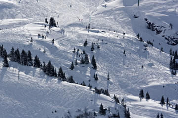 slope of snow mountian