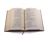 open bible - greek old testament poster