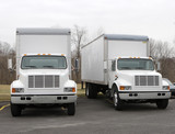 delivery trucks poster