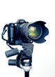 professional dslr camera with telephoto zoom lens